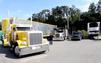 Οι οδηγοί φορτηγών φαίνονται στα δύσκολα