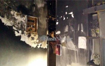 Μία γυναίκα με ελαφρά εγκαύματα από φωτιά σε σπίτι στα Χανιά