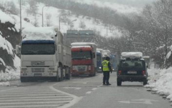 Αποκαταστάθηκε η κυκλοφορία των φορτηγών στην εθνική οδό Αθηνών- Λαμίας