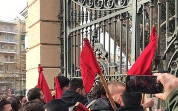 Ένταση στην κινητοποίηση των εκπαιδευτικών στη Θεσσαλονίκη