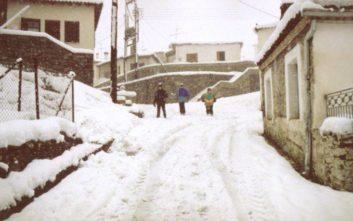 Ο χιονιάς κρατά κλειστά σχολεία στην Κρήτη