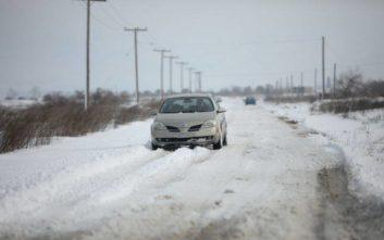 Έκλεισαν λόγω παγετού επαρχιακοί δρόμοι στη Θεσσαλονίκη