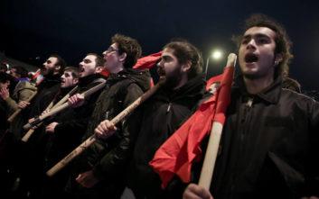 Πορεία διαμαρτυρίας στο κέντρο της Αθήνας για την επίσκεψη Μέρκελ