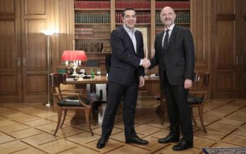 Το μήνυμα Μοσκοβισί μετά τη συνάντηση με Τσίπρα: Η Ελλάδα επιστρέφει στην κανονικότητα