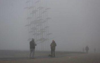 «Πνιγμένη» στην ομίχλη η Θεσσαλονίκη