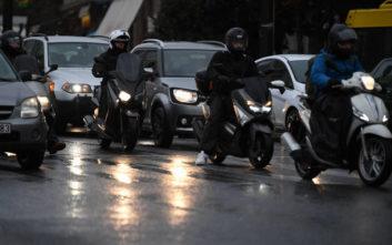 Μποτιλιάρισμα λόγω της κακοκαιρίας στους δρόμους της Αθήνας