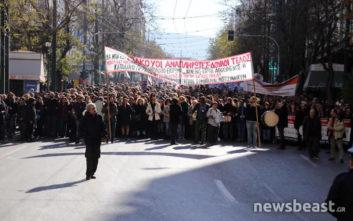 Στη Βουλή κατευθύνεται η πορεία των εκπαιδευτικών