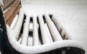Χιόνι στη Λέσβο έφερε η κακοκαιρία