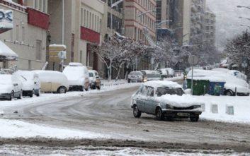 Κλειστοί λόγω παγετού δρόμοι στη Θεσσαλονίκη