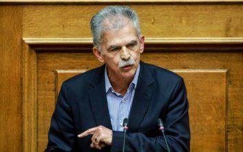 Δανέλλης: Δίνω ψήφο εμπιστοσύνης, αλλά δεν προσχωρώ στον ΣΥΡΙΖΑ