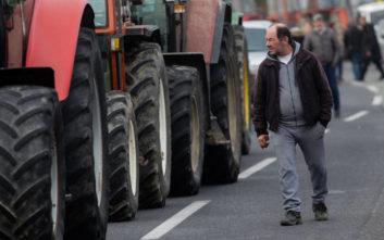 Αγρότες διαδήλωσαν με τα τρακτέρ τους στο κέντρο του Βόλου