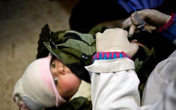 Τραγωδία στη Συρία με νεκρά 29 παιδιά και νεογέννητα λόγω ψύχους