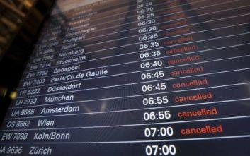 Αλαλούμ σε οκτώ αεροδρόμια της Γερμανίας