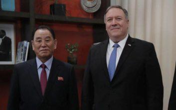 Συνάντηση Πομπέο με τον ειδικό απεσταλμένο της Β. Κορέας