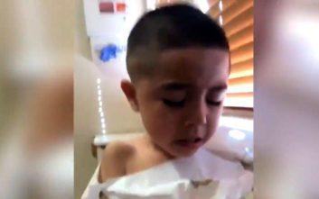 Πεντάχρονος σε υστερία έπειτα από επίσκεψη στο γιατρό