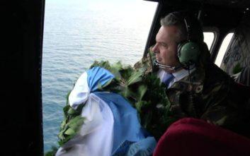 Στα Ίμια με ελικόπτερο ο Καμμένος μετά την παραίτησή του