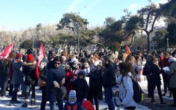 Κινητοποίηση εκπαιδευτικών στο κέντρο της Θεσσαλονίκης