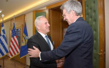Η αμυντική συνεργασία Ελλάδας-ΗΠΑ στη συνάντηση Πάιατ και Αποστολάκη