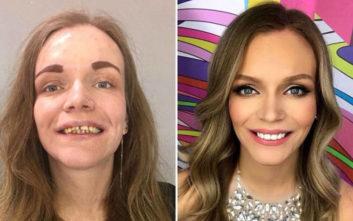 Ολική μεταμόρφωση γυναικών με μακιγιάζ