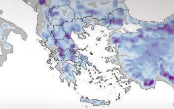 Ο χάρτης της κακοκαιρίας «Τηλέμαχος»