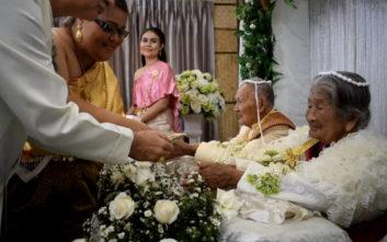 Είναι 100 χρονών και παντρεύτηκε μόλις την καλή του, 96 ετών