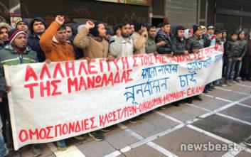 Κινητοποίηση εργατών στη Νέα Μανωλάδα έξω από το υπουργείο Εργασίας