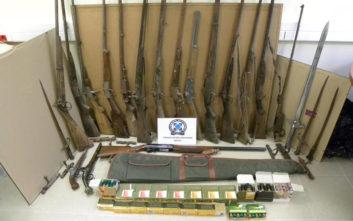 «Οπλοστάσιο» με παλιά όπλα είχε δημιουργήσει ένας 53χρονος στον Βόλο