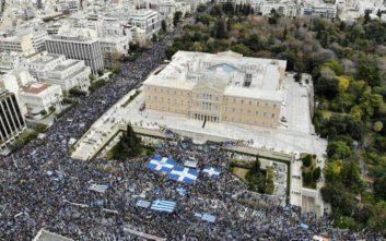 Φωτογραφίες από τα δύο μεγάλα συλλαλητήρια της Αθήνας για τη Μακεδονία