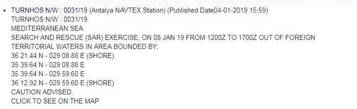 Η Τουρκία «περικυκλώνει» με παράνομη NAVTEX το Καστελόριζο
