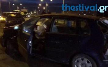 Φωτογραφίες και βίντεο από την καραμπόλα στη Θεσσαλονίκη