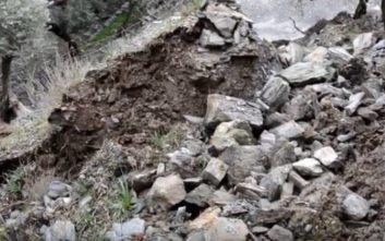 Πλημμυρισμένα σπίτια και ζημιές στο οδικό δίκτυο στη Λέσβο