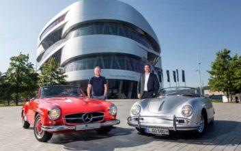 Τι δουλειά έχει μια Porsche στο μουσείο της Mercedes;