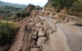 Πλημμύρες και κατολισθήσεις στην Ηλεία από την ξαφνική κακοκαιρία