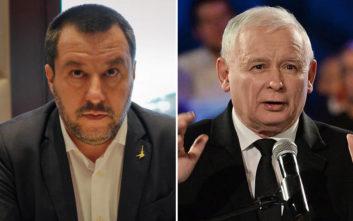 «Πρόβες εθνικιστικής συμμαχίας» στη συνάντηση Σαλβίνι - Κατσίνσκι