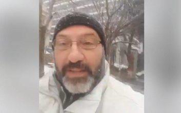 Η live μετάδοση του Σάκη Αρναούτογλου από τη χιονισμένη Θεσσαλονίκη