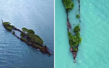 Ένα σωστό φυσικό νησί φτιάχνεται σε… ναυάγιο