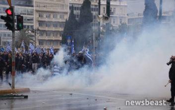 Καταγγελίες των διοργανωτών για εκτεταμένη χρήση χημικών με σκοπό τη διάλυση του συλλαλητηρίου