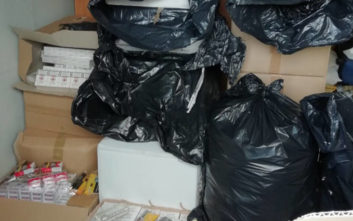 Οι σακούλες των σκουπιδιών περιείχαν 3.720 πακέτα λαθραία τσιγάρα