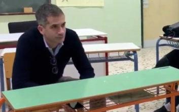 Η συζήτηση του Κώστα Μπακογιάννη με μαθητές στη Γκράβα