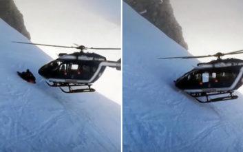 Δείτε μια εξαιρετικά επιδέξια διάσωση με ελικόπτερο