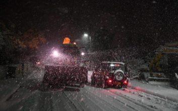 Πολλές κλήσεις στην Πυροσβεστική για παροχή βοήθειας λόγω του χιονιού