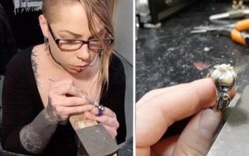 Φτιάχνει κοσμήματα από δόντια και τρίχες