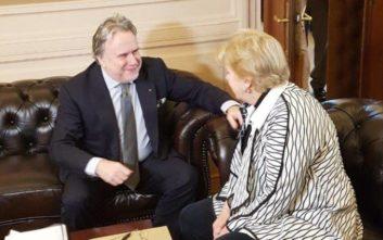 Το Κυπριακό στο επίκεντρο της συζήτησης Κατρούγκαλου - Λουτ