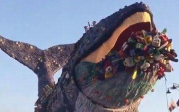 Το άρμα που κερδίζει τις εντυπώσεις στο φετινό Καρναβάλι του Βιαρέτζο