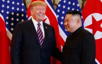 Τραμπ: Δεν βιάζομαι για συμφωνία με τη Β. Κορέα για τα πυρηνικά