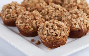 Αλμυρά muffins με γλυκοπατάτα