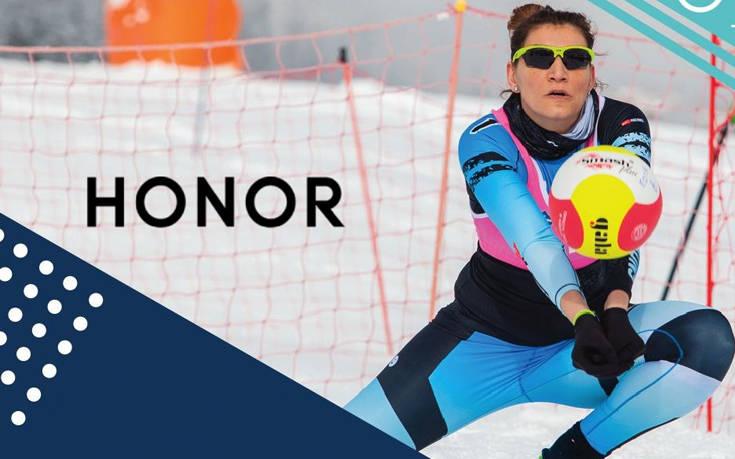 Η HONOR επίσημος χορηγός του Snow Volley 2019