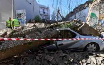 Η στιγμή που κατέρρευσε το σπίτι στο Γκάζι