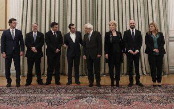 Ενώπιον Παυλόπουλου και Τσίπρα η ορκωμοσία των νέων μελών του Υπουργικού Συμβουλίου
