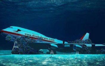 Το μεγαλύτερο θαλάσσιο πάρκο στον κόσμο έχει ένα... Boeing στον βυθό